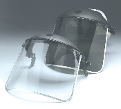 Jackson Safety F30 aluminum bound acetate faceshields offer a combination of light weight and strength. Excellent cold flexibility. Frame and headgear sold separately. (Similar to image)
