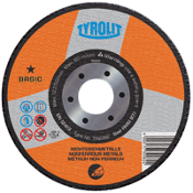 Tyrolit XPERT grinding wheels are manufactured for specific tasks. This grinding wheel is for aluminum - surface or edge grinding - and has very good cut rate and life without loading.