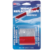 LifeSafe DOT-C2 reflective tape is easy to apply and sticks to a variety of properly prepared surfaces including fiberglass, aluminum and painted steel.