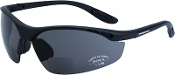 Talon Reader safety glasses have a sporty and lightweight design created for a great fit and ease of use in normal outdoor conditions. This model has a smoke lens with a base curve of 8 and a matte black nylon half-frame. Z87+ Certified
