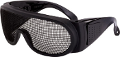 Black wire mesh front eye protection designed for extremely humid environments, provides excellent visibility combined with exceptional ventilation characteristics.
