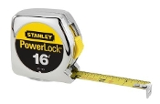 Stanley tapes are the jobsite standard with features like a tough ABS chrome case, Mylar coated blade, and a secure blade lock.