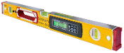 Stabila Type 196-2 levels have an electronic measuring technology with two digital displays, audible inclination guide, and are IP 65 Dust and Waterproof. Removable shock-absorbing end caps with anti-slip wall grips.