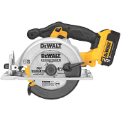 "5,150 RPM for fast rip cuts and cross cuts. Uses a 6-1/2"" carbide tipped blade for 2x cutting capacity at 90° and 45°"