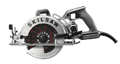 "The Model #SPT77W-22 7-1/4"" Worm Drive Skilsaw® has a powerful 15 amp motor, 20 amp switch, and 8' long heavy gauge cord."