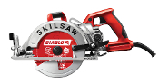 "The Model #SPT77WML-22 7-1/4"" Worm Drive Skilsaw® reduces user fatigue for less down time"