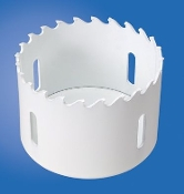 Lenox carbide tipped hole saws are designed for cutting tile and stainless steel
