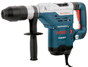 Bosch SDS Max Combination Rotary Hammer has a 2 position switch that allows a rotary hammer or hammer only mode. Bits change quickly and lock in place without tools.
