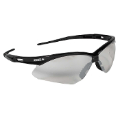 Nemesis Safety Eyewear is sleek, sporty, and lightweight. The single lense wraparound protection meets ANSI Z87.1+ impact standards and blocks 99.9% of UV light.