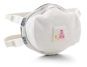 This disposable P100 particulate respirator helps provide comfortable, reliable worker respiratory protection for certain oil and non oil based particles.